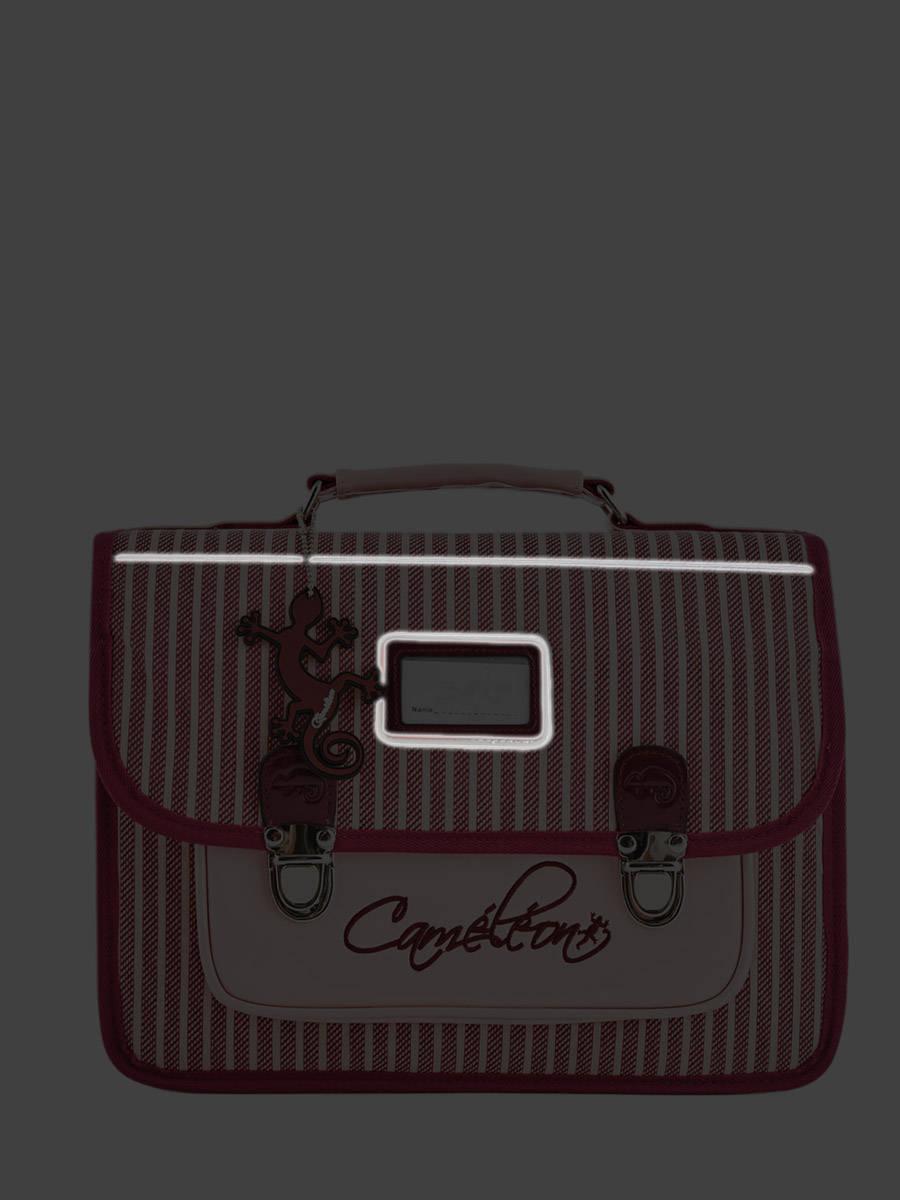 Cartable 38cm Cam/él/éon Vintage avec 2 Compartiments CE1 et CE2 pour Fille et gar/çon Id/éal pour l/école Primaire et la rentr/ée Scolaire en CP