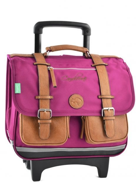 Wheeled Schoolbag 2 Compartments Cameleon Pink vintage VINCA38R