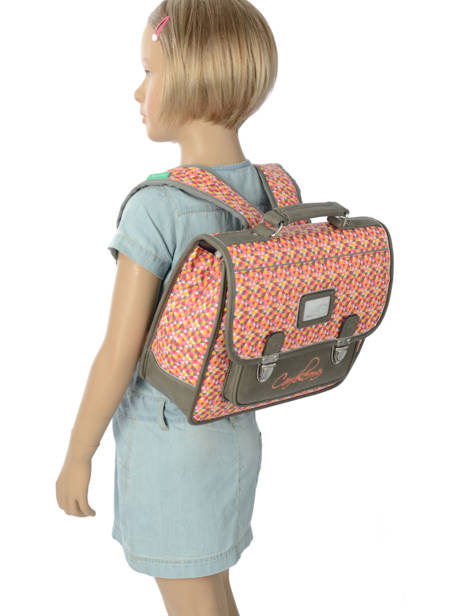 Satchel For Kids 1 Compartment Cameleon Gray retro RET-CA32 other view 2
