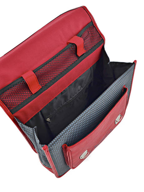 Satchel 1 Compartment Cameleon Red retro RET-CA32 other view 5