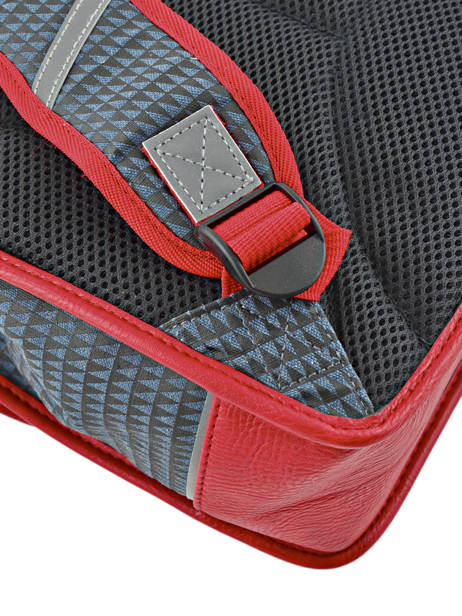 Satchel 1 Compartment Cameleon Red retro RET-CA32 other view 1