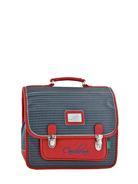Satchel 2 Compartments Cameleon Red retro RET-CA35
