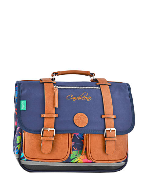 Satchel 2 Compartments Cameleon Blue vintage VINCA38