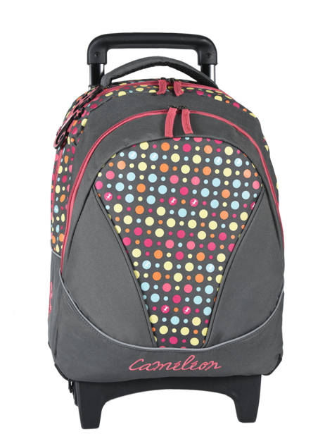 Wheeled Backpack 2 Compartments Cameleon Pink new basic NBA-BORR