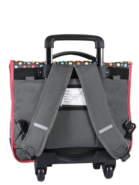 Cartable à Roulettes 3 Compartiments Cameleon Rose new basic NBACA41R vue secondaire 5