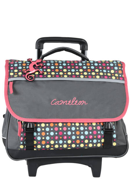 Wheeled Schoolbag 3 Compartments Cameleon Pink new basic NBACA41R