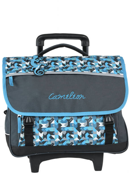 Wheeled Schoolbag 3 Compartments Cameleon Blue new basic NBACA41R