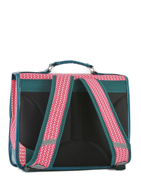 Satchel For Kids 2 Compartments Cameleon Pink retro vinyl REV-CA35 other view 5