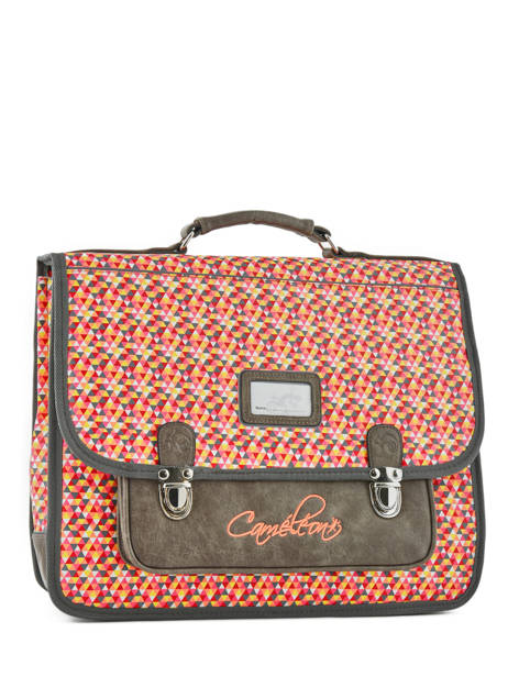 Satchel 2 Compartments Cameleon Gray retro RET-CA38