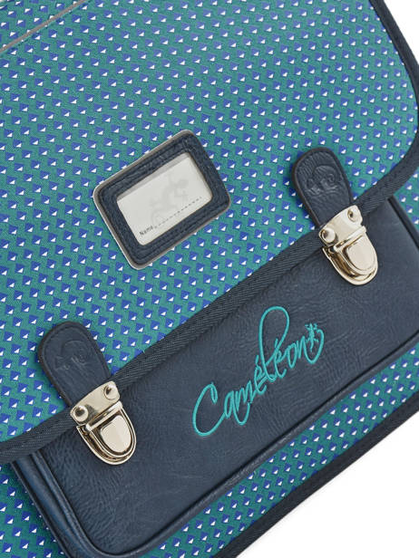 Satchel For Kids 2 Compartments Cameleon Blue retro RET-CA38 other view 1