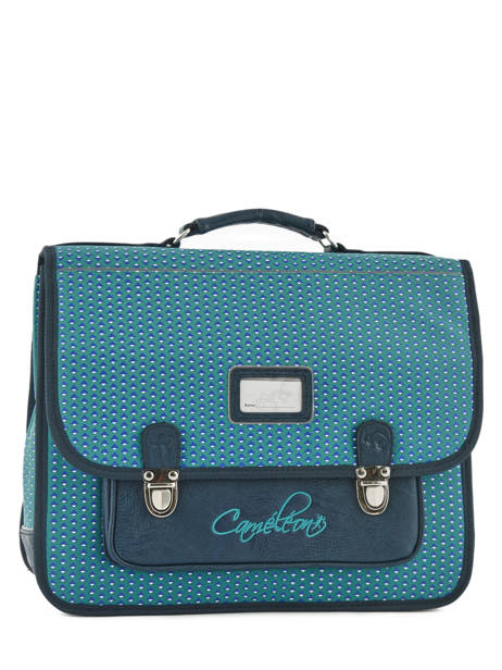 Satchel 2 Compartments Cameleon Blue retro RET-CA38