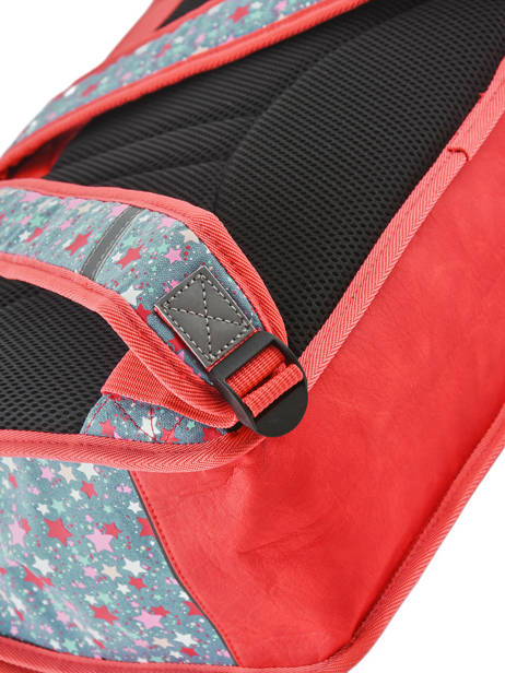 Satchel For Kids 2 Compartments Cameleon Red retro RET-CA38 other view 2