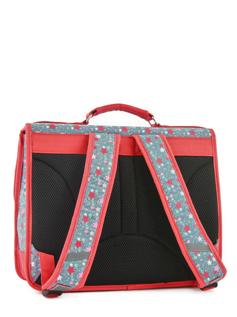 Satchel For Kids 2 Compartments Cameleon Red retro RET-CA38 other view 5