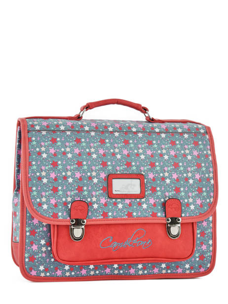 Satchel For Kids 2 Compartments Cameleon Red retro RET-CA38