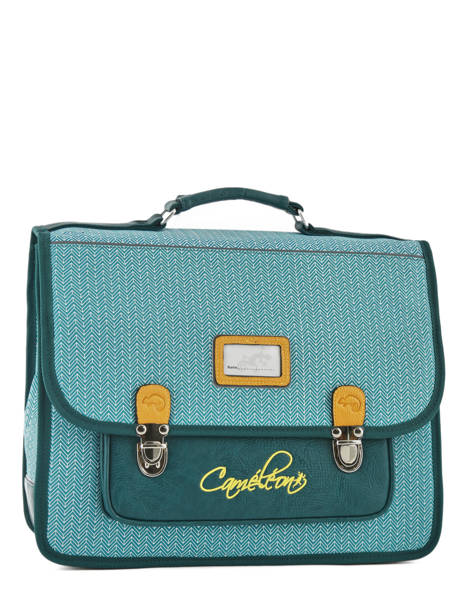 Satchel 2 Compartments Cameleon Black retro RET-CA38