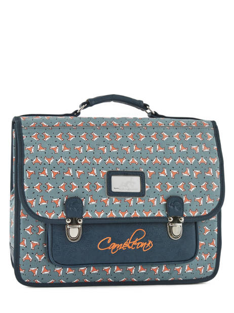 Satchel For Kids 2 Compartments Cameleon Blue retro RET-CA38