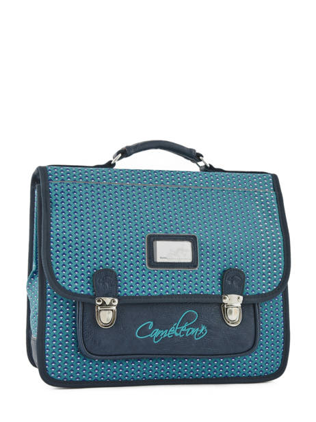 Cartable 2 Compartiments Cameleon Bleu retro RET-CA35