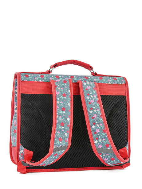 Satchel For Kids 2 Compartments Cameleon Red retro RET-CA35 other view 5