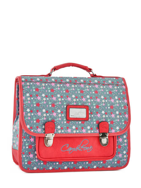 Satchel For Kids 2 Compartments Cameleon Red retro RET-CA35