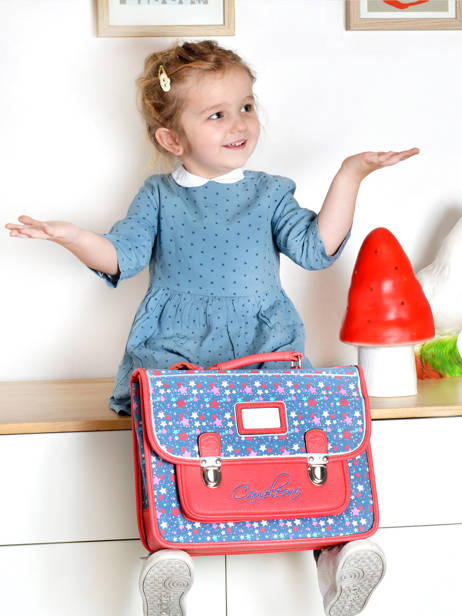 Satchel For Kids 2 Compartments Cameleon Red retro RET-CA35 other view 4