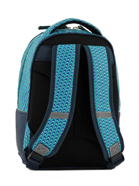 Backpack For Kids 2 Compartments Cameleon Blue retro RET-PRI other view 3