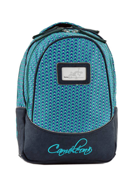 Backpack 2 Compartments Cameleon Blue retro RET-PRI