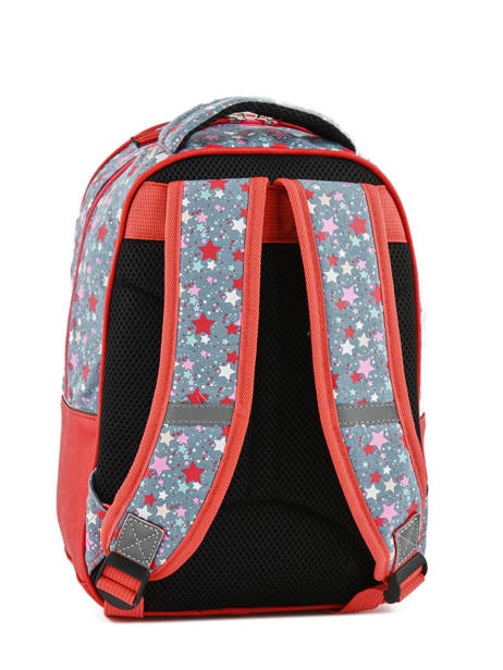 Backpack For Kids 2 Compartments Cameleon Red retro RET-PRI other view 2