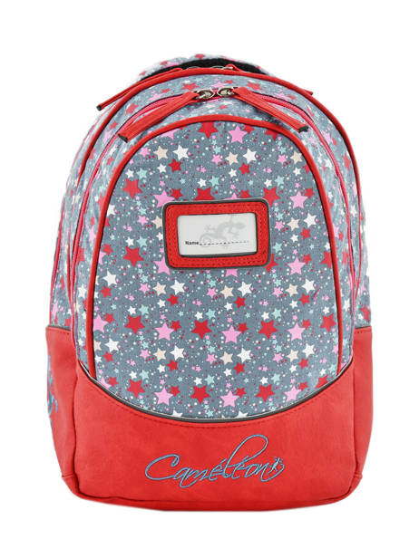 Backpack For Kids 2 Compartments Cameleon Red retro RET-PRI