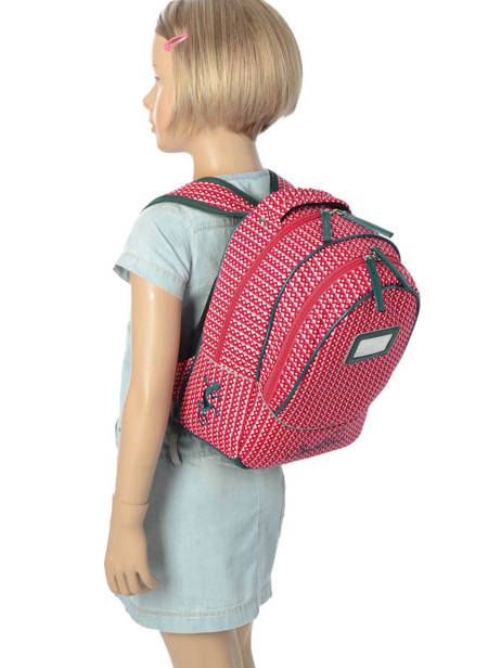 Backpack For Kids 2 Compartments Cameleon Pink retro vinyl REV-PRI other view 2