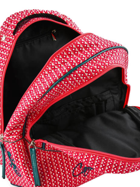 Backpack For Kids 2 Compartments Cameleon Pink retro vinyl REV-PRI other view 4