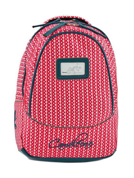 Backpack 2 Compartments Cameleon Pink retro vinyl REV-PRI