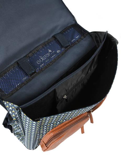 Satchel For Boys 2 Compartments Cameleon Black vintage print boy VIB-CA38 other view 5