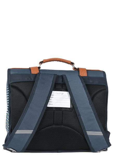 Satchel For Boys 2 Compartments Cameleon Black vintage print boy VIB-CA38 other view 4