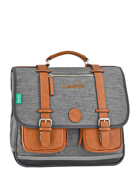 Satchel 3 Compartments Cameleon Gray vintage chine VIN-CA41