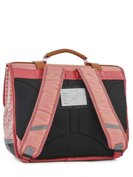 Cartable Fille 3 Compartiments Cameleon Rose vintage print girl VIG-CA41 vue secondaire 3