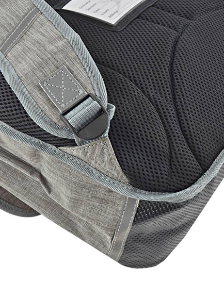 Cartable Fille 3 Compartiments Cameleon Gris vintage print girl VIG-CA41 vue secondaire 1