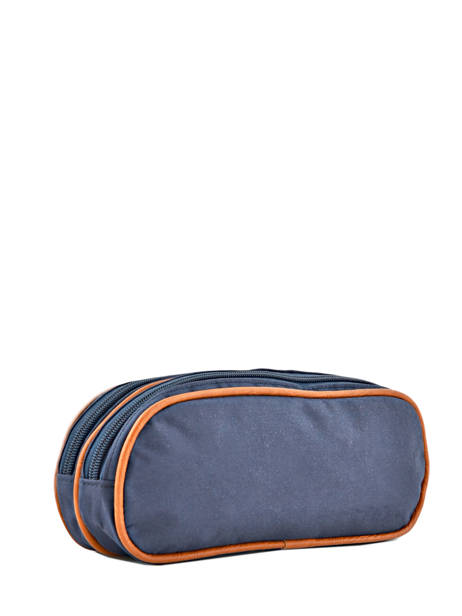 Pencil Case For Boy 2 Compartments Cameleon Blue vintage print boy VIB-TROU other view 2