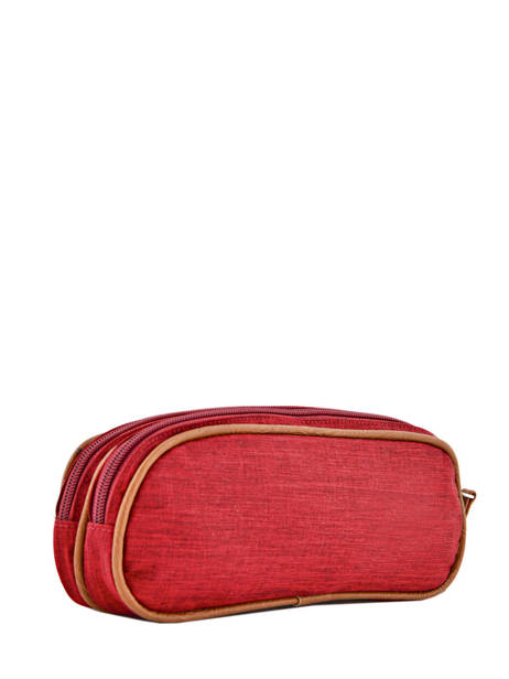 Pencil Case For Kids 2 Compartments Cameleon Red vintage chine VIN-TROU other view 2