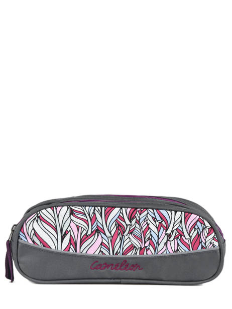 Pencil Case For Kids 2 Compartments Cameleon Gray basic BAS-TROU