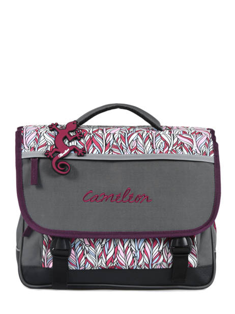 Cartable Enfant 2 Compartiments Cameleon Gris basic BAS-CA35