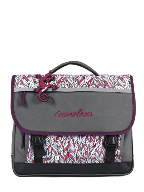 Satchel For Kids 2 Compartments Cameleon Gray basic BAS-CA38