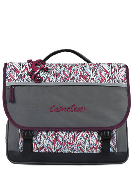 Cartable Enfant 3 Compartiments Cameleon Gris basic BAS-CA41