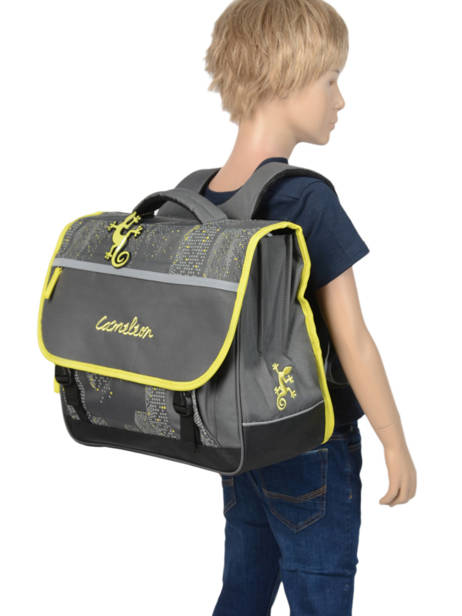Satchel For Kids 3 Compartments Cameleon Gray basic BAS-CA41 other view 2