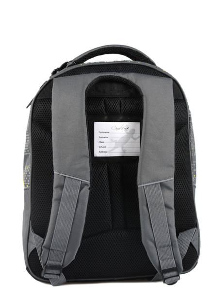 Backpack For Kids 2 Compartments Cameleon Gray basic BAS-SD43 other view 3