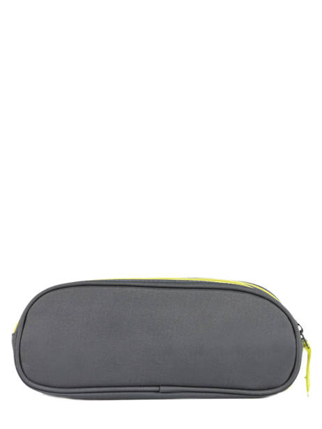 Pencil Case For Kids 2 Compartments Cameleon Gray basic BAS-TROU other view 2