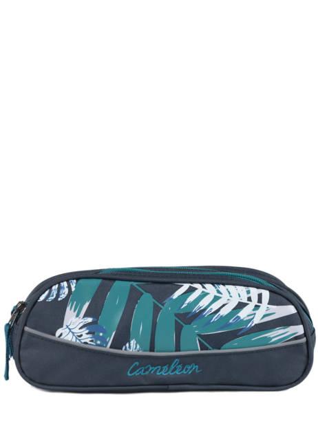 Pencil Case For Kids 2 Compartments Cameleon Blue basic BAS-TROU