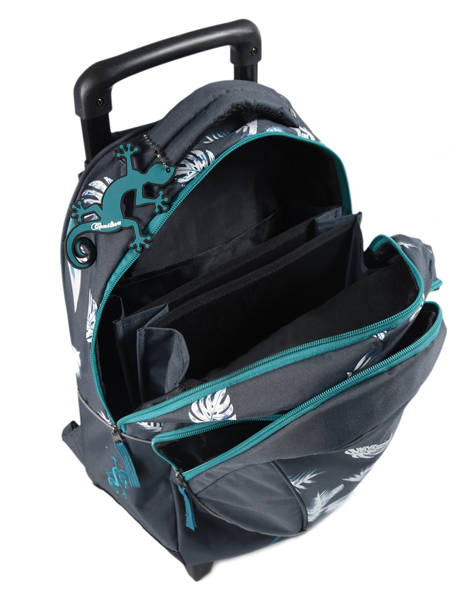 Wheeled Backpack For Kids 2 Compartments Cameleon Blue basic BAS-SR43 other view 6