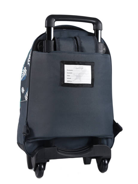 Wheeled Backpack For Kids 2 Compartments Cameleon Blue basic BAS-SR43 other view 5