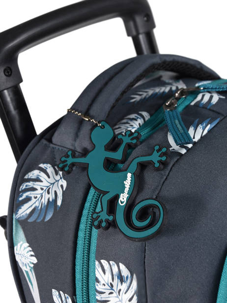 Wheeled Backpack For Kids 2 Compartments Cameleon Blue basic BAS-SR43 other view 1