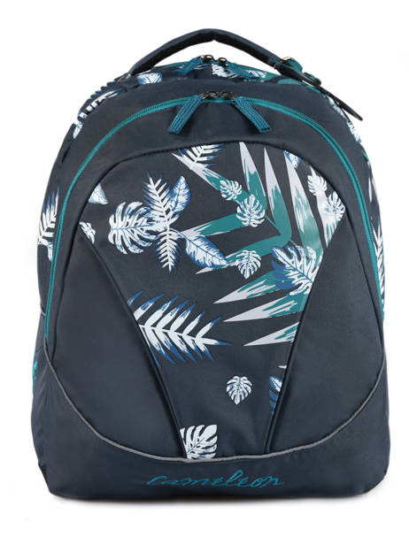 Backpack 2 Compartments Cameleon Blue basic BAS-SD43